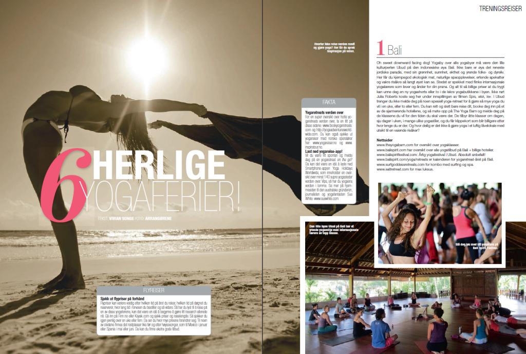 6 herlige yogaferier