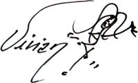 Vivians signatur