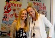 Nina Lødemel og Vivian i redaksjonen