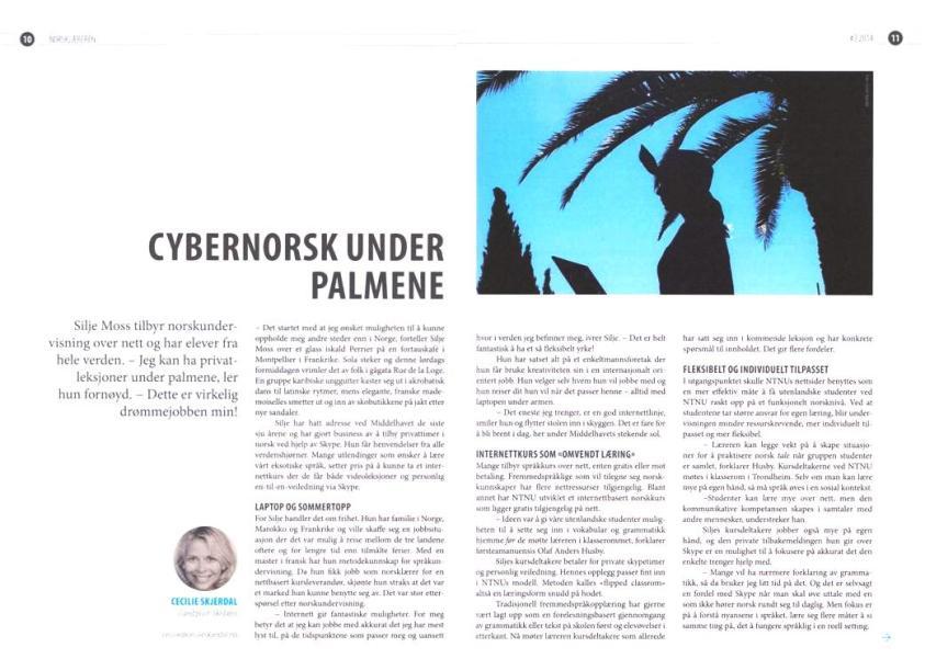 Fagblad  - Cecilie Skjerdal - Cybernorsk under palmene