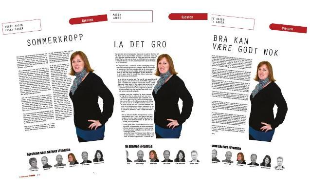 Framtia 2014 - Beate Aasen - gjesteskribent