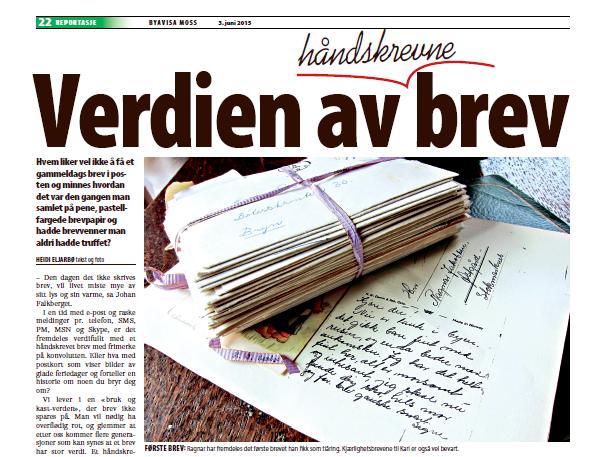 Heidi Eljarbø Verdien av håndskrevne brev