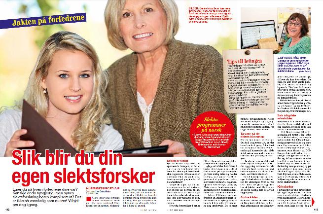 Hjemmet - Inger-Lise KOntochristos - Slektsforskning