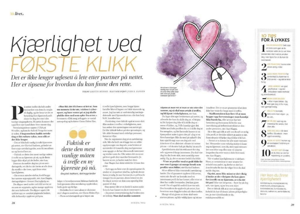 KK - Kristin Myrmel - kjærlighet ved første klikk