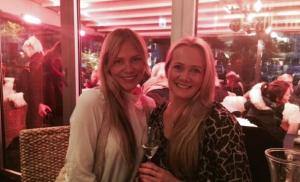 Kine Nymo sammen med Vivian under en Bli magasinjournalist-middag i høst.